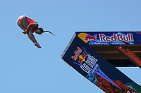 12th June 2021, Saint-Raphaël, Provence-Alpes-Côte d'Azur, France; Red Bull Cliff Diving competition;  Jessica MACAULAY (Can)