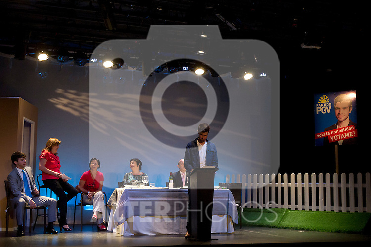 15.06.2012. Press pass in the theater Pequeño Gran Via of the play ´My nephew Councilman´ directed by Concha Rodriguez and starring by Berta Ojea, Chema del Barco, Victor Sevilla and Fede Rey  (Alterphotos/Marta Gonzalez)