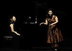April 28, 2013, Surabaya, Indonesia - .Kanako Inoue (L), Japanese pianist, performing in classical music concert title Around the World, collaborating with Bernadeta Astari (R) (Indonesian soloist) at Cak Durasim building. (Photo by Robertus Pudyanto/AFLO)