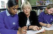 Literacy coordinator at Kidbroke School, South London, with Year 7 pupils.