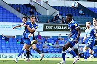 13th September 2020; Portman Road, Ipswich, Suffolk, England, English League One Footballl, Ipswich Town versus Wigan Athletic; James Wilson of Ipswich Town clears the ball
