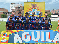 ENVIGADO- COLOMBIA, 21-04-2019.Formación del Unión Magdalena ante el el Envigado durante partido por la fecha 17 de la Liga Águila I 2019 jugado en el estadio Polideportivo Sur de la ciudad de Medellín. /Team ofUnion Magdalena agaisnt of Envigado during the match for the date 17 of the Liga Aguila I 2019 played at Polideportivo Sur stadium in Medellin  city. Photo: VizzorImage / Leon Monsalve/ Contribuidor