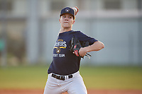 Pitcher Cam Leiter (10) during the WWBA World Championship at Terry Park on October 7, 2020 in Fort Myers, Florida.  Cam Leiter, a resident of Island Heights, New Jersey who attends Central Regional High School, is uncommitted.  (Mike Janes/Four Seam Images)