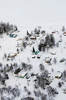 Aerial of Grayling Village Chkpt Yukon River Iditarod 2005