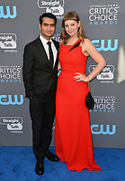 Kumail Nanjiani & Emily V. Gordon  at the 23rd Annual Critics' Choice Awards at Barker Hangar, Santa Monica, USA 11 Jan. 2018<br /> Picture: Paul Smith/Featureflash/SilverHub 0208 004 5359 sales@silverhubmedia.com