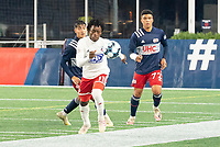 FOXBOROUGH, MA - OCTOBER 16: Ronaldo Damus #11 of North Texas SC during a game between North Texas SC and New England Revolution II at Gillette Stadium on October 16, 2020 in Foxborough, Massachusetts.
