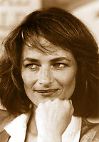 File Photo, Montreal (Quebec) Canada<br /> <br /> FRench actress Charlotte Rampling at the 1985 World Film Festival in Montreal<br /> <br /> Photo by : Pierre Roussel / Images Distribution