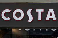 Pictured: A general view of Costa in Swansea City Centre during the Covid-19 Coronavirus pandemic in Wales, UK, Swansea, Wales, UK. Monday 23 March 2020