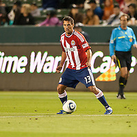 CARSON, CA – APRIL 9, 2011: Chivas USA defender Ante Jazic (13) during the match between Chivas USA and Columbus Crew at the Home Depot Center, April 9, 2011 in Carson, California. Final score Chivas USA 0, Columbus Crew 0.