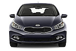 Car photography straight front view of a 2014 KIA cee'd Access 5 Door Wagon 2WD Front View