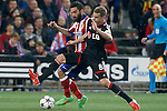 Atletico de Madrid's Arda Turan (l) and Bayer 04 Leverkusen's Lars Bender during Champions League 2014/2015 match.March 16,2015. (ALTERPHOTOS/Acero)