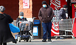 WATERBURY CT. - 30 December 2020-123020SV03-Shoppers leave Shoprite wearing masks after getting their groceries in Waterbury Wednesday.<br /> Steven Valenti Republican-American