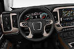 Car pictures of steering wheel view of a 2019 GMC Sierra 2500 Denali 4 Door Pick Up