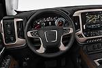 Car pictures of steering wheel view of a 2019 GMC Sierra 2500 Denali 4 Door Pick Up