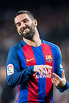 Arda Turan of FC Barcelona reacts during their Copa del Rey 2016-17 Semi-final match between FC Barcelona and Atletico de Madrid at the Camp Nou on 07 February 2017 in Barcelona, Spain. Photo by Diego Gonzalez Souto / Power Sport Images