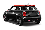 Car pictures of rear three quarter view of a 2017 Mini Cooper John Cooper Works 2 Door Convertible angular rear