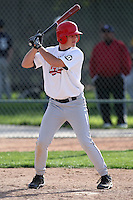 January 17, 2010:  Kevin Sanders (Long Beach, CA) of the Baseball Factory National Team during the 2010 Under Armour Pre-Season All-America Tournament at Kino Sports Complex in Tucson, AZ.  Photo By Mike Janes/Four Seam Images