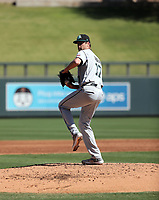Ashton Goudeau of the Salt River Rafters pitches in the 2019 Arizona Fall League championship game at Salt River Fields on October 26, 2019 in Scottsdale, Arizona (Bill Mitchell)