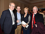Ollie, Irene and Oliver Farrell and Martin Whately pictured at the Ardee Traders Awards night in the Nuremore hotel Carrickmacross. Photo:Colin Bell/pressphotos.ie