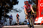 Red Jersey Primoz Roglic (SLO) Jumbo-Visma crosses the finish line in 2nd place at the end of Stage 20 of La Vuelta d'Espana 2021, running 202.2km from Sanxenxo to Mos, Spain. 4th September 2021.    <br /> Picture: Luis Angel Gomez/Photogomezsport | Cyclefile<br /> <br /> All photos usage must carry mandatory copyright credit (© Cyclefile | Luis Angel Gomez/Photogomezsport)