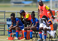 Bradenton, FL - Sunday, June 12, 2018: Melchie Dumonay, Haiti prior to a U-17 Women's Championship 3rd place match between Canada and Haiti at IMG Academy. Canada defeated Haiti 2-1.