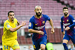 Javier Alejandro Mascherano (C) of FC Barcelona reacts during the La Liga 2017-18 match between FC Barcelona and Las Palmas at Camp Nou on 01 October 2017 in Barcelona, Spain. (Photo by Vicens Gimenez / Power Sport Images