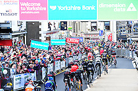Pictures by SWpix.com - 29 /04/2016 - Cycling - Tour de Yorkshire Day 1 - Stage 1  - England - Mens Race - Beverley to Settle - The finish in Settle