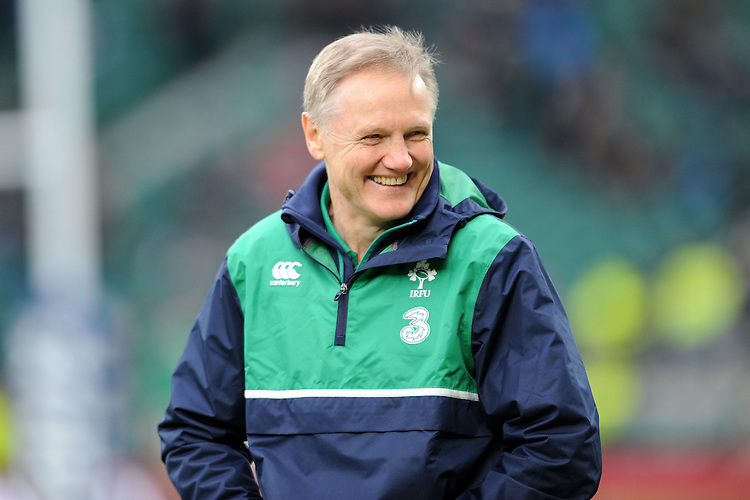 Joe Schmidt FEBRUARY 27, 2016 - Rugby : Joe Schmidt, Ireland Head Coach, looks relaxed ahead of the RBS 6 Nations match between England and Ireland at Twickenham Stadium, London, United Kingdom. (Photo by Rob Munro)