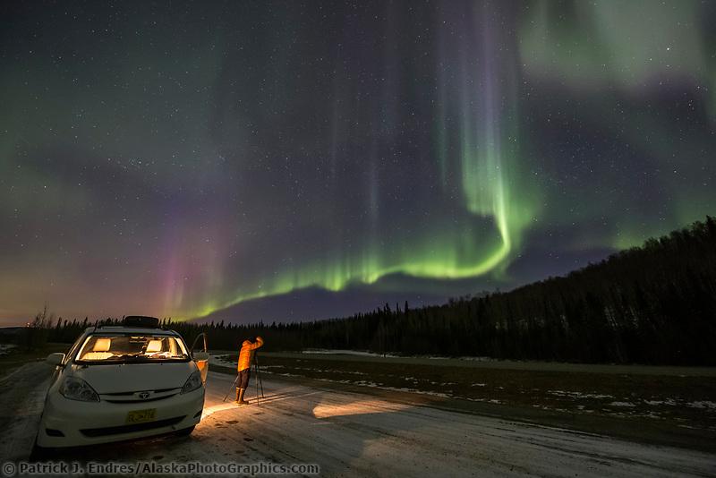 Northern lights over Alaska's interior