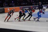 SPEEDSKATING: DORDRECHT: 05-03-2021, ISU World Short Track Speedskating Championships, Heats 1000m Ladies, Courtney Sarault (CAN), Valentina Ascic (CRO), Yana Khan (KAZ), Xandra Velzeboer (NED), Evgeniya Zakharova (RSU), ©photo Martin de Jong