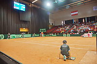 15-sept.-2013,Netherlands, Groningen,  Martini Plaza, Tennis, DavisCup Netherlands-Austria, boarding<br /> Photo: Henk Koster