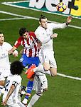 Atletico de Madrid's Stefan Savic (l) and Real Madrid's Garet Bale during La Liga match. November 19,2016. (ALTERPHOTOS/Acero)