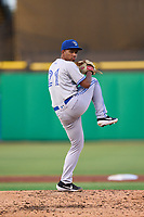 Dunedin Blue Jays pitcher Naswell Paulino (21) during a game against the Clearwater Threshers on May 18, 2021 at BayCare Ballpark in Clearwater, Florida.  (Mike Janes/Four Seam Images)