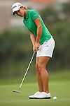 TAOYUAN, TAIWAN - OCTOBER 28:  Azahara Munoz of Spain puts on the 17th green during the day four of the Sunrise LPGA Taiwan Championship at the Sunrise Golf Course on October 28, 2012 in Taoyuan, Taiwan.  Photo by Victor Fraile / The Power of Sport Images