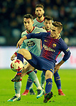 Celta de Vigo's Hugo Mallo (l) and FC Barcelona's Denis Suarez during Spanish Kings Cup match. January 4,2018. (ALTERPHOTOS/Acero)