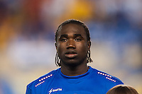 Haiti defender Jeff Louis (7) during a CONCACAF Gold Cup group B match at Red Bull Arena in Harrison, NJ, on July 8, 2013.