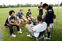 Photo: Richard Lane/Richard Lane Photography. Birkett/Hart Testimonial PRO/AM 7?s Touch Tournament. 24/08/2011.