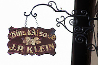 wrought iron sign jp klein andlau alsace france
