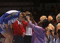 8e Jeux de la Francophonie d'Abidjan 2017 - Finales lutte - Parc des sports de Treichville - Véronica du Canada Québec reçois ça médaille d'0R - Abidjan, Côte d'Ivoire - 24 juillet 2017