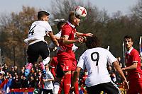Kopfball Gökhan Gül (Deutschland, Fortuna Düsseldorf) - 25.03.2017: U19 Deutschland vs. Serbien, Sportpark Kelsterbach