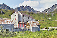 The bunk house for workers at Independence Mine State Historical Park, in the Hatcher Pass area about 50 miles north of Anchorage, Alaska.