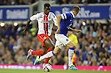 Oumare Tounkara of Stevenage takes on John Stones of Everton<br />  - Everton v Stevenage - Capital One Cup Second Round - Goodison Park, Liverpool - 28th August, 2013<br />  © Kevin Coleman 2013