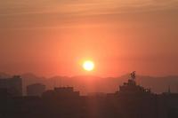 Rio de Janeiro (RJ), 31/05/2020 - Clima-Rio - Amanhecer deste domingo (31), vista do bairro das Laranjeiras,  zona sul do Rio de Janeiro.