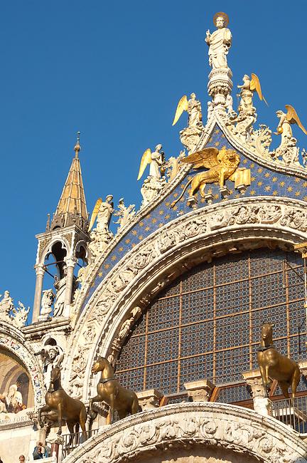 Front of Saint Marks Basilica - Venice - Italy