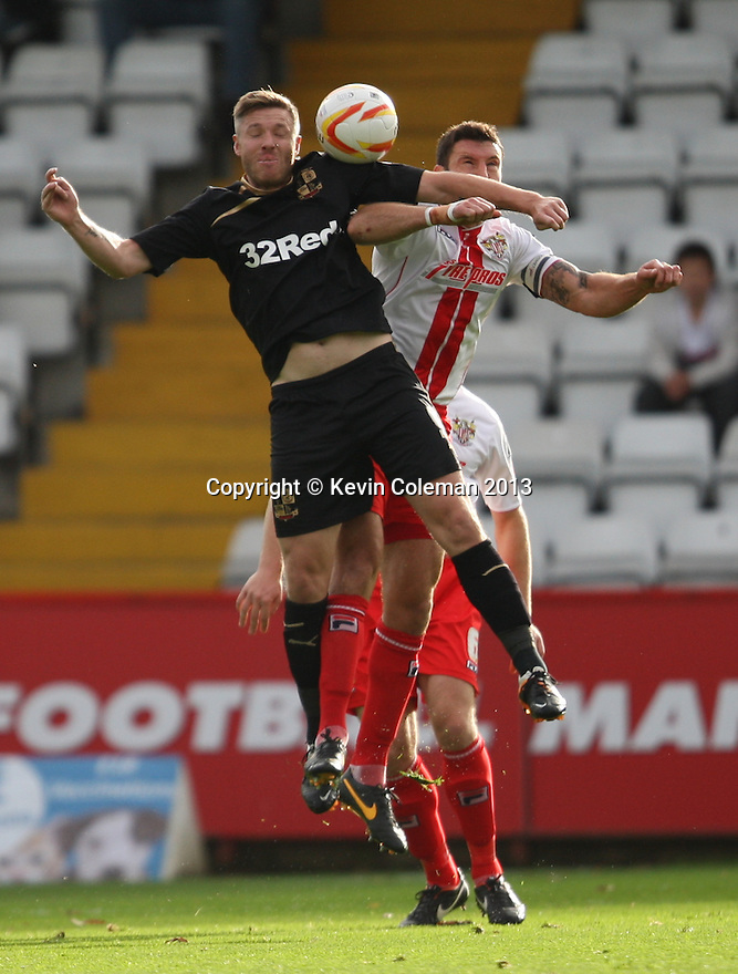 Jon Ashton of Stevenage and Gary Alexander of Crawley contest a header<br />  - Stevenage v Crawley Town - Sky Bet League 1 - Lamex Stadium, Stevenage - 26th October, 2013<br />  © Kevin Coleman 2013<br />  <br />  <br />  <br />  <br />  <br />  <br />  <br />  <br />  <br />  <br />  <br />  <br />  <br />  <br />  <br />  <br />  <br />  <br />  <br />  <br />  <br />  <br />  <br />  <br />  <br />  <br />  <br />  <br />  <br />  <br />  <br />  <br />  <br />  <br />  <br />  <br />  <br />  <br />  <br />  <br />  <br />  <br />  <br />  <br />  <br />  <br />  <br />  <br />  <br />  <br />  <br />  - Crewe Alexandra v Stevenage - Sky Bet League One - Alexandra Stadium, Gresty Road, Crewe - 22nd October 2013. <br /> © Kevin Coleman 2013