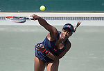 April  8, 2016:  Sloane Stephens (USA) goes into three sets against Daria Kasatkina (RUS), at the Volvo Car Open being played at Family Circle Tennis Center in Charleston, South Carolina.  ©Leslie Billman/Tennisclix/Cal Sport Media
