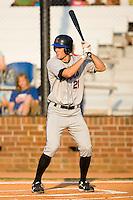 Daniel Stegall (21) of the Kingsport Mets at bat at Howard Johnson Field in Johnson City, TN, Thursday July 3, 2008.