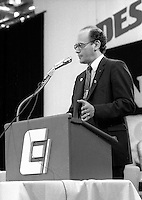 Yvon Charbonneau<br />  attend the CEQ Convention, June 25, 1984