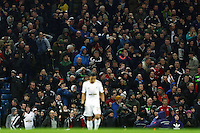 Swansea City fans during the Barclays Premier League match between Manchester City and Swansea City played at the Etihad Stadium, Manchester on December 12th 2015