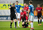 St Johnstone v Kilmarnock…24.11.18…   McDiarmid Park    SPFL<br />Kris Boyd thinks he has been fouled but ref Willie Collum doesn't agree<br />Picture by Graeme Hart. <br />Copyright Perthshire Picture Agency<br />Tel: 01738 623350  Mobile: 07990 594431